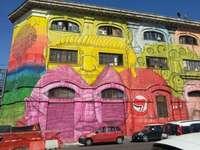 Róma Via del Porto Fluviale utcai művészet