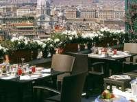Rom Hotel Dachterrasse