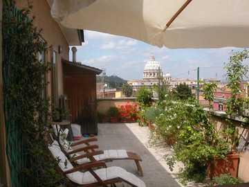 Ταράτσα στο Rome Hotel Monte del Gallo