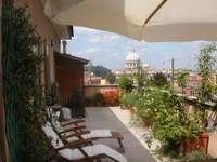 Rome Hotel Monte del Gallo roof terrace