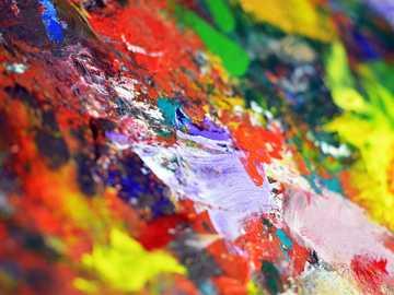 vícebarevné abstraktní malby - Někdy je nepořádek, který způsobíte při malování, sám umělecký. Doufám, že to udělám