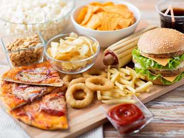Fast Food - Vielzahl von Fast Food.