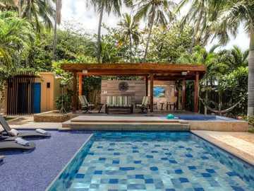 Sommerhaus - Sommerhaus mit Pool.