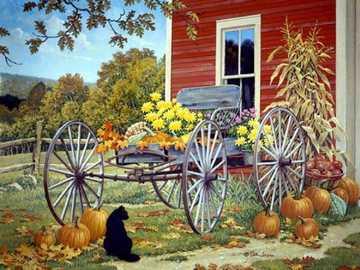 << Podzim >> - Krajina puzzle.