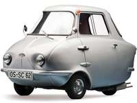 1960 Scootacar De Luxe - Scootacar De Luxe, 1960. La segunda generación de un microcoche británico de tres ruedas con carro