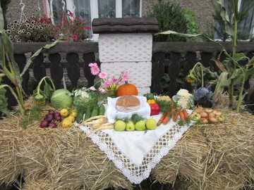 Decorações de colheita em Krzanowice - m .............................