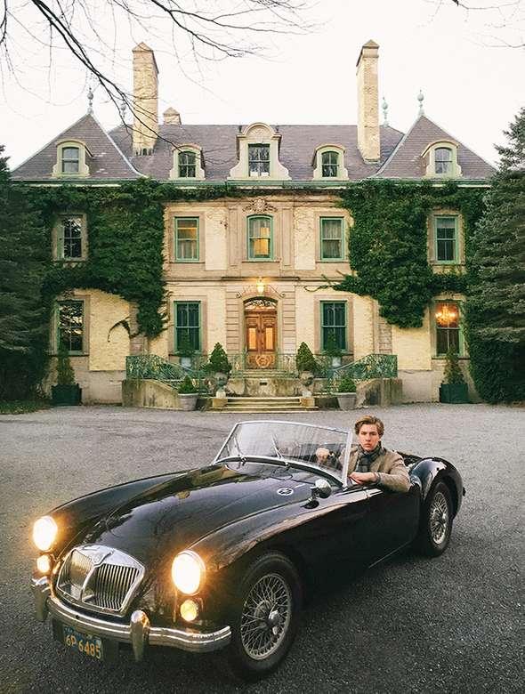 Austin Healey - Esta es una foto de un coche deportivo clásico (6×9)