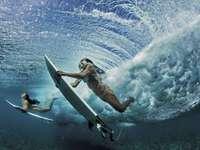 surfen, golven
