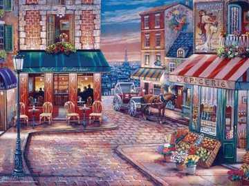 Callejones de París. - Puzzle de paisaje.