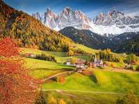 View of the Dolomites. - Landscape puzzle.