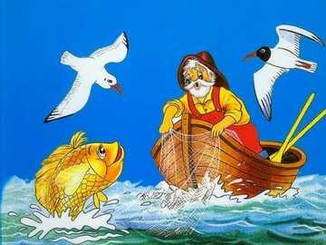 über den Fischer und den Goldfisch - m ...........................