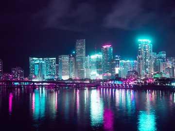 Маями Флорида - Това е снимка на Маями Флорида САЩ от 2020 година.