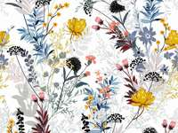 floral ταπετσαρία - ωραία ταπετσαρία με πολύχρωμα λουλούδια