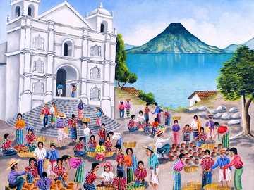 Před kostelem San Pablo - Jose Antonio Gonzalez Escobar. Guatemala