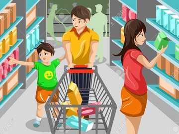 супермаркет за 3 клас - пъзел на супермаркета за 3 клас