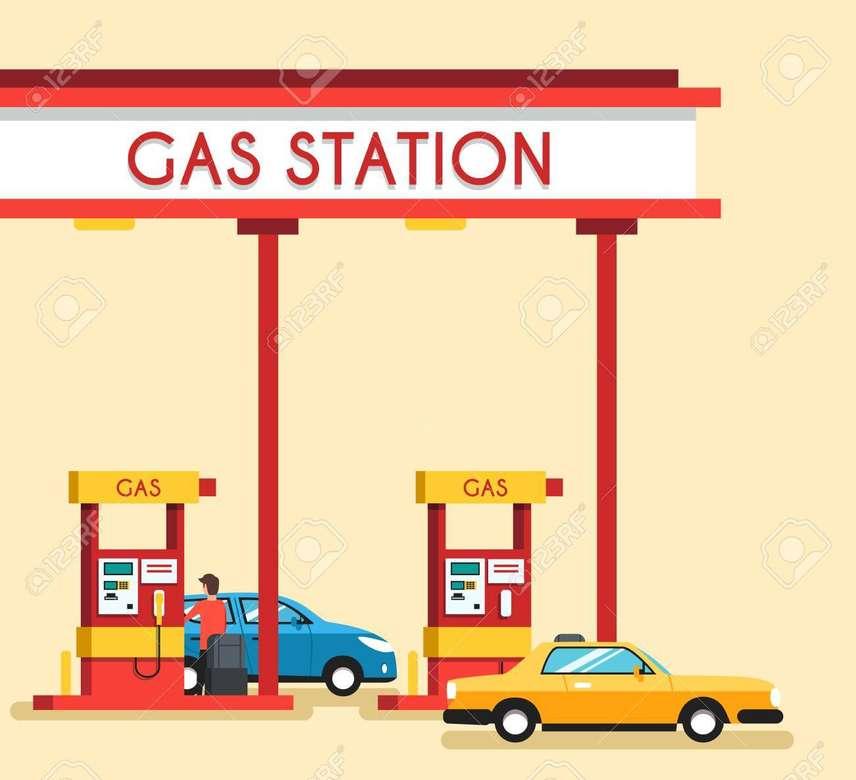 Stacja benzynowa III klasy - puzzle stacji benzynowej dla III klasy (5×5)