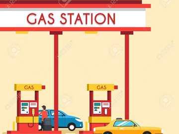 Station d'essence pour la 3e année - puzzle de la station-service pour la 3e année