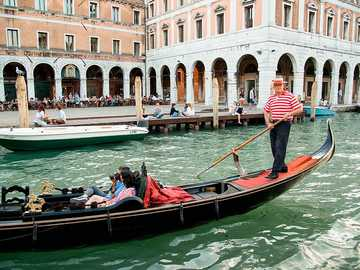 Каране на гондола - Разходка с гондола, Венеция