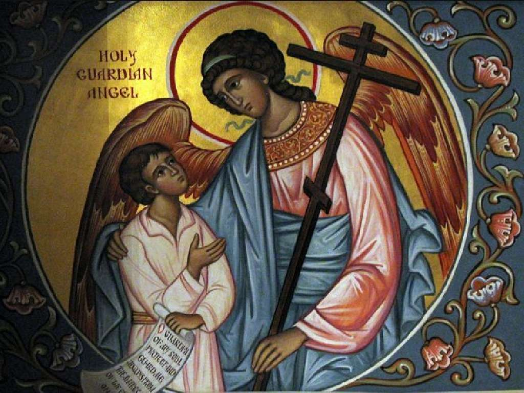 ange gardien - l'ange gardien avec l'enfant (9×7)