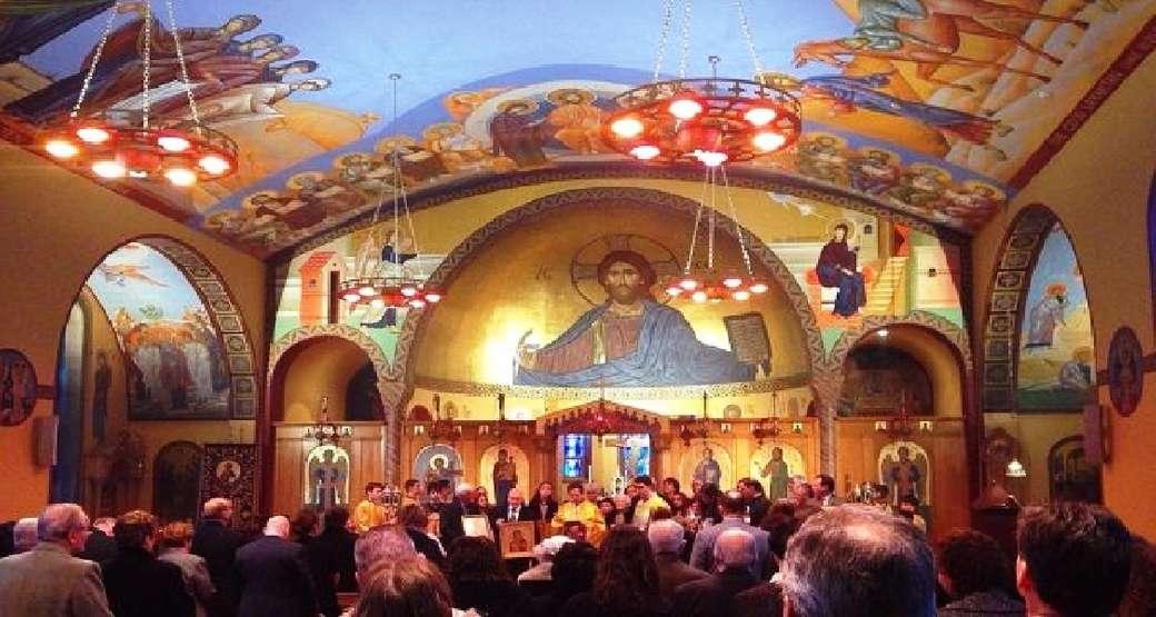 Dieu dans l'Église - Dum, Dieu est avec les gens dans la prière et les services (11×6)