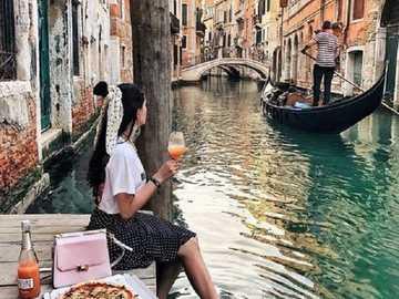 À Venise. - Puzzle de paysage.