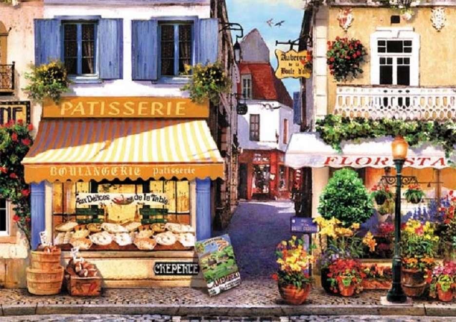 En las calles de Paris. - Puzzle de paisaje.