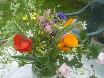 flores silvestres - lindo buquê de flores silvestres