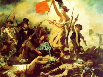 A liberdade guiando o povo - Obra a liberdade guiando o povo