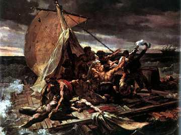 Le ferry Medusa - Oeuvre de Theodore Gericault