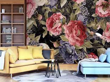 papel pintado en la pared - papel pintado en el apartamento en la pared