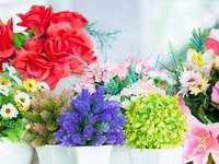artificial flowers - decoration with artificial flowers