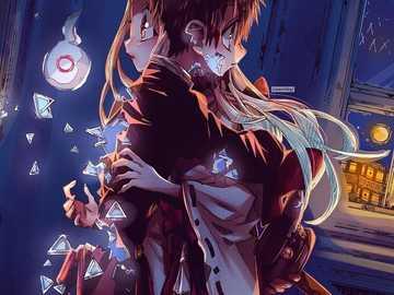 jibaku shounen hanako kun - det är en anime som heter jibaku shounen hanako kun