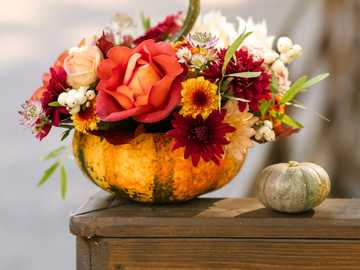 flower decoration in pumpkin - m ........................