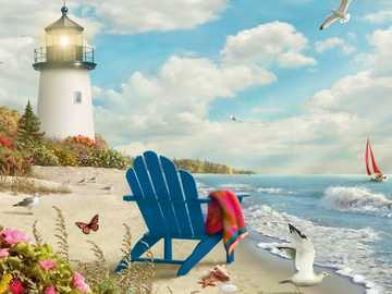 Leuchtturm und Strand - Leuchtturm und Strand.