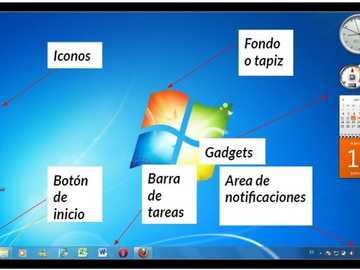 Windows desktop - Solve the following puzzle about the parts of the windows desktop.