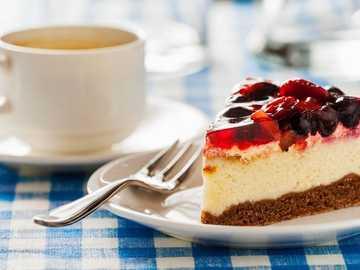 a piece of coffee cake - m .....................