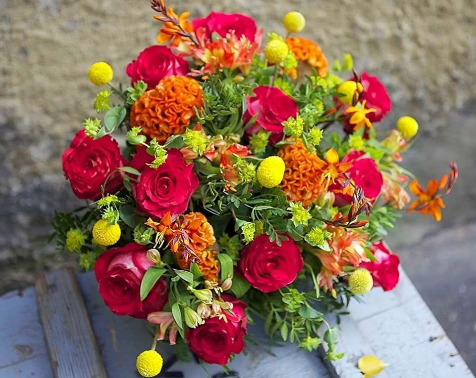 kytice květin - tato kytice je pro vás, drahé matky (3×3)