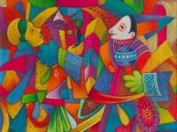Jaguar et singe - Julian Coche Mendoza