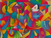 Jaguar and monkey - Julian Coche Mendoza