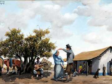 Молина Кампос - Картина на известната художничка Молина Кампос