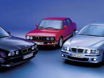 Bmw Models - This Is A Photo Of All The Models From 1980s To 1990s.