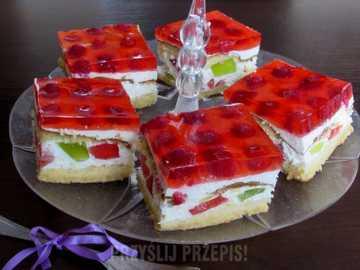 Ciasto i galeretkami i owocami - M......................
