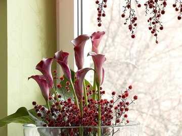 kwiaty na oknie - m........................