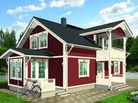 Huis in Scandinavische stijl