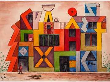 Rompecabezas Xul Solar - A través del juego de Rompecabezas, presentamos una de las obras más conocidas del artista Xul Sol