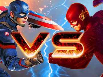 Captain america VS flash - It is a game between the kids