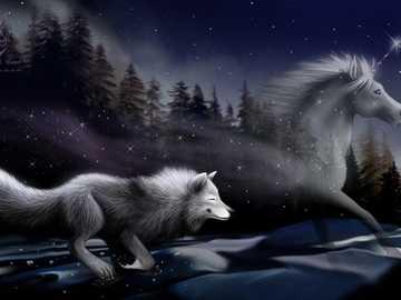 вълк и красив еднорог: 3 - Обичам това изображение е много красиво