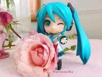 Hatsune Miku, όμορφο τριαντάφυλλο - Hatsune Miku και ένα όμορφο τριαντάφυλλο