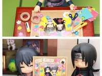 A nice painting of two brothers - Itachi is happy to see a beautiful painting of him and his brother