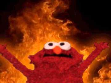 olmo de fogo - um meme elmo clássico